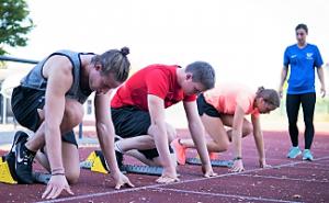 Sprinter bei der Sporteignungsprüfung