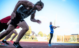 Sprinter im Sporteignungstest Vorbereitungscamp